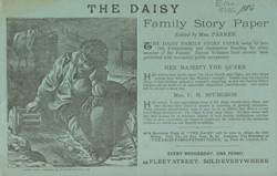 Advert for The Daisy, periodical